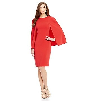 Antonio Melani Spiro Crepe Cape Dress