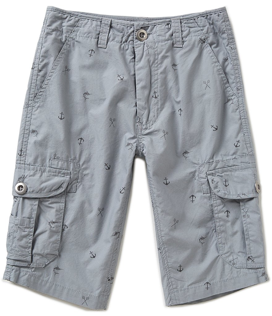First Wave Big Boys 8-20 Printed Cargo Shorts