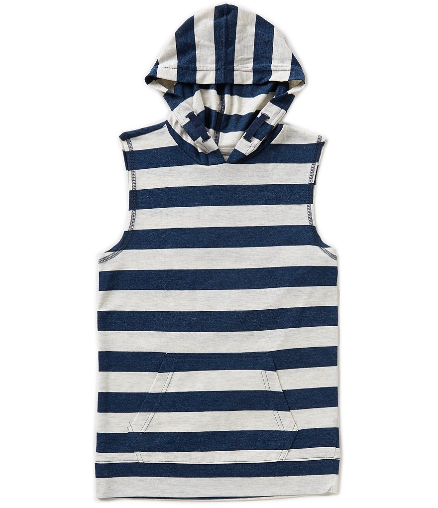 Class Club Big Boys 8-20 Striped Hooded Muscle Tee