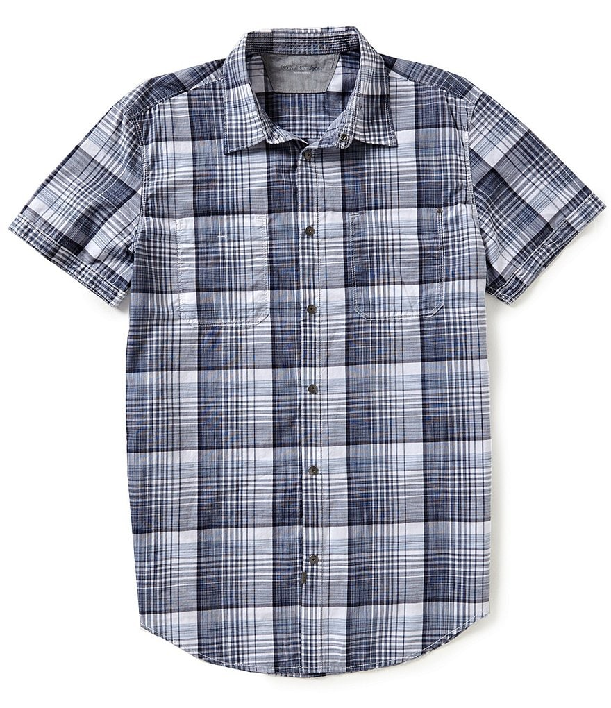 Calvin Klein Jeans Check Short Sleeve Woven Shirt
