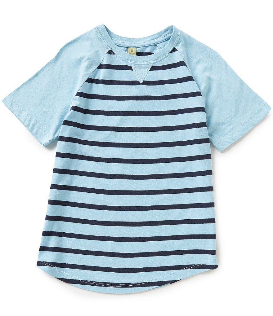 Class Club Big Boys 8-20 Striped Short-Sleeve Raglan Tee