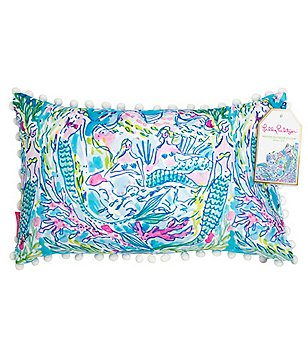 Lilly Pulitzer Mermaid Canvas Indoor/Outdoor Pillow
