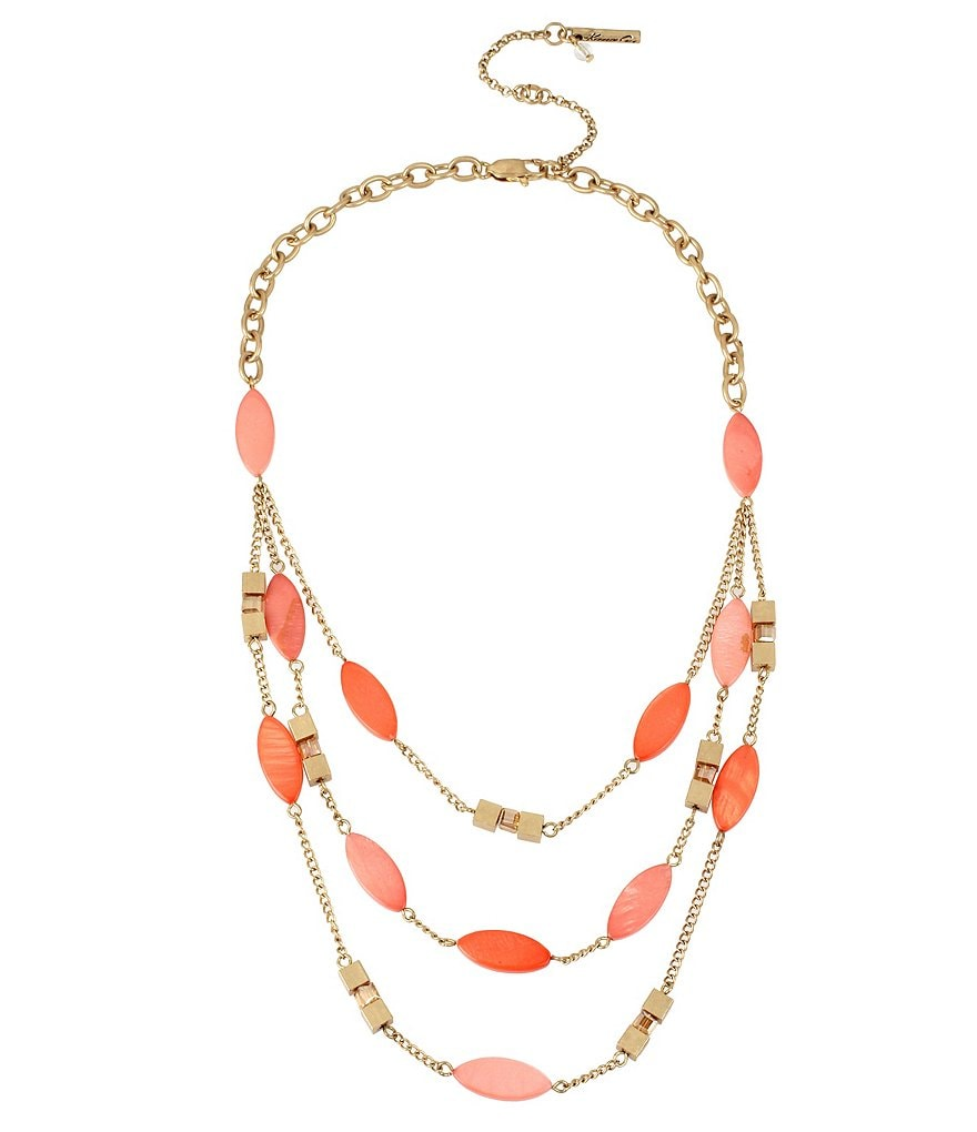 Kenneth Cole New York Shell & Bead Multi-Strand Necklace