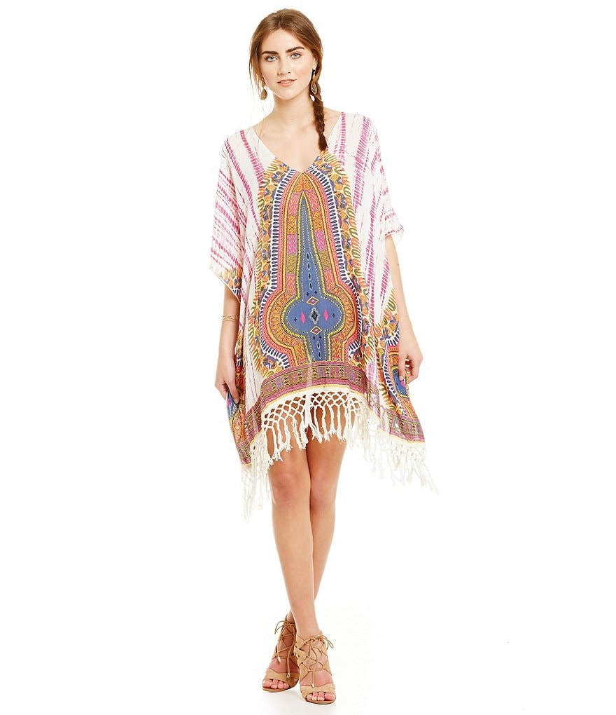 Band Of Gypsies Dashiki Tie Dye Caftan