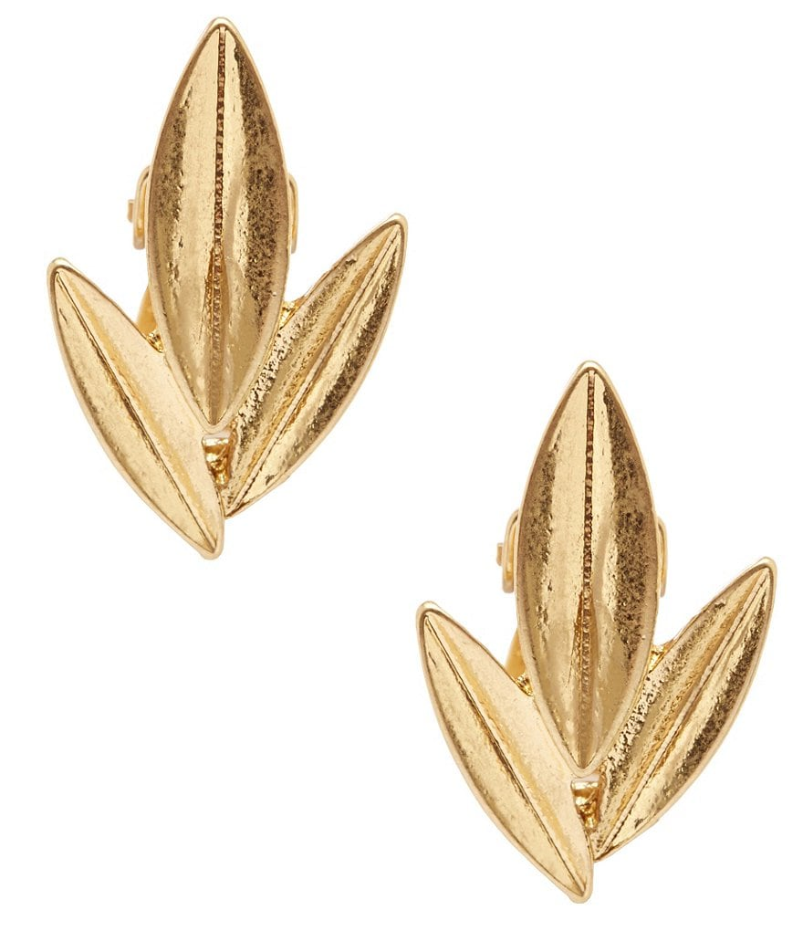Lauren Ralph Lauren Leaf Clip-On Stud Earrings