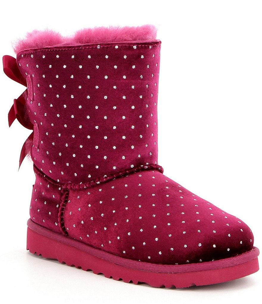 UGG Girls´ Bailey Bow Starlight Velvet Glitter Dot Slip-On Boots