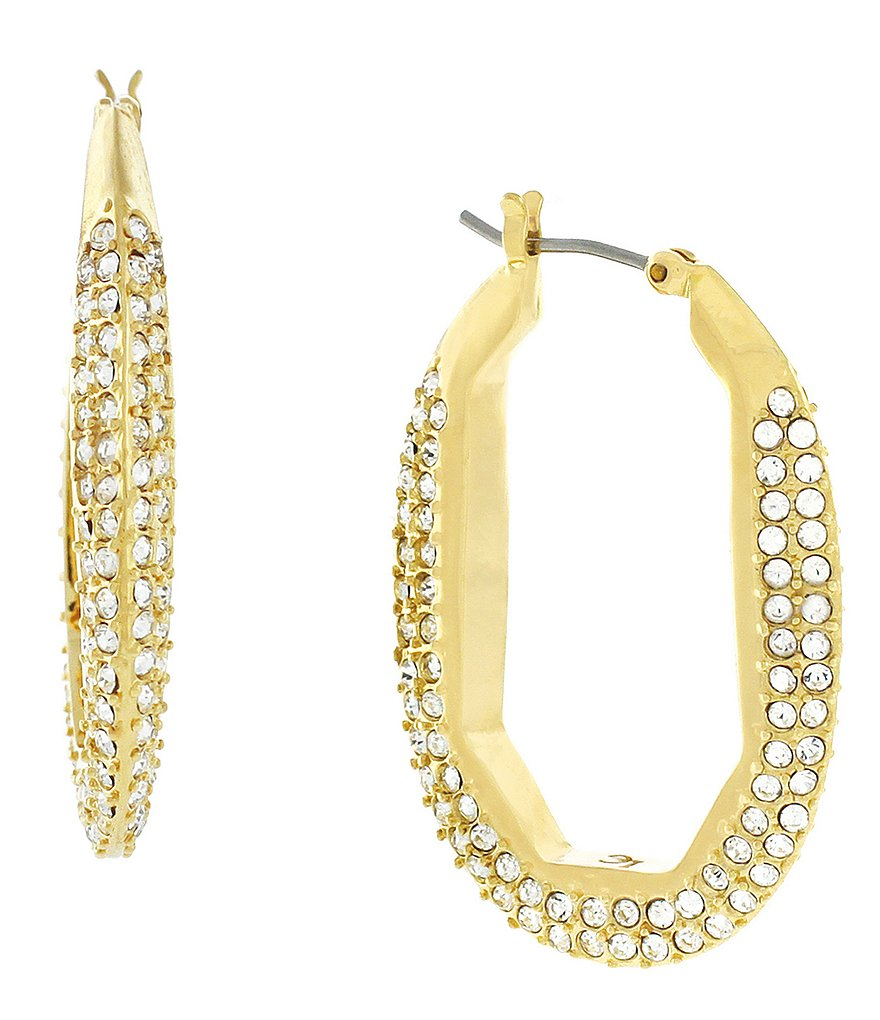 Louise Et Cie Pavé Hoop Earrings