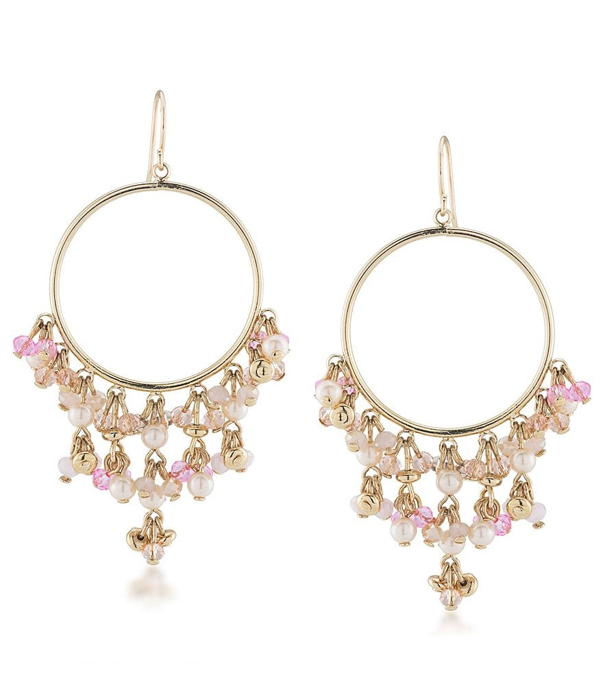 Carolee Gracie Mansion Chandelier Hoop Earrings