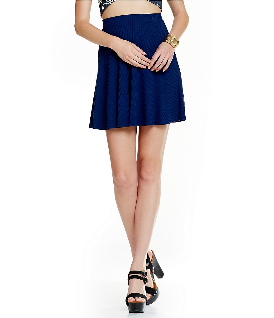 Soprano Ribbed Skater Skirt