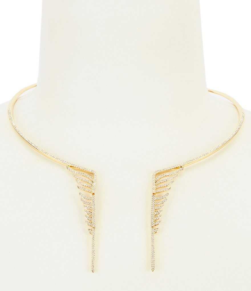 Nadri Angelina Winged Choker Collar Necklace