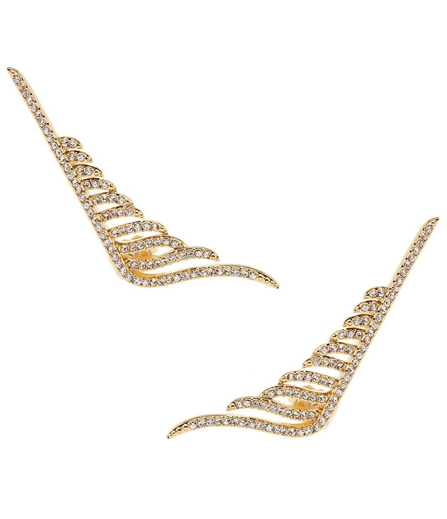 Nadri Angelina Winged Linear Earrings
