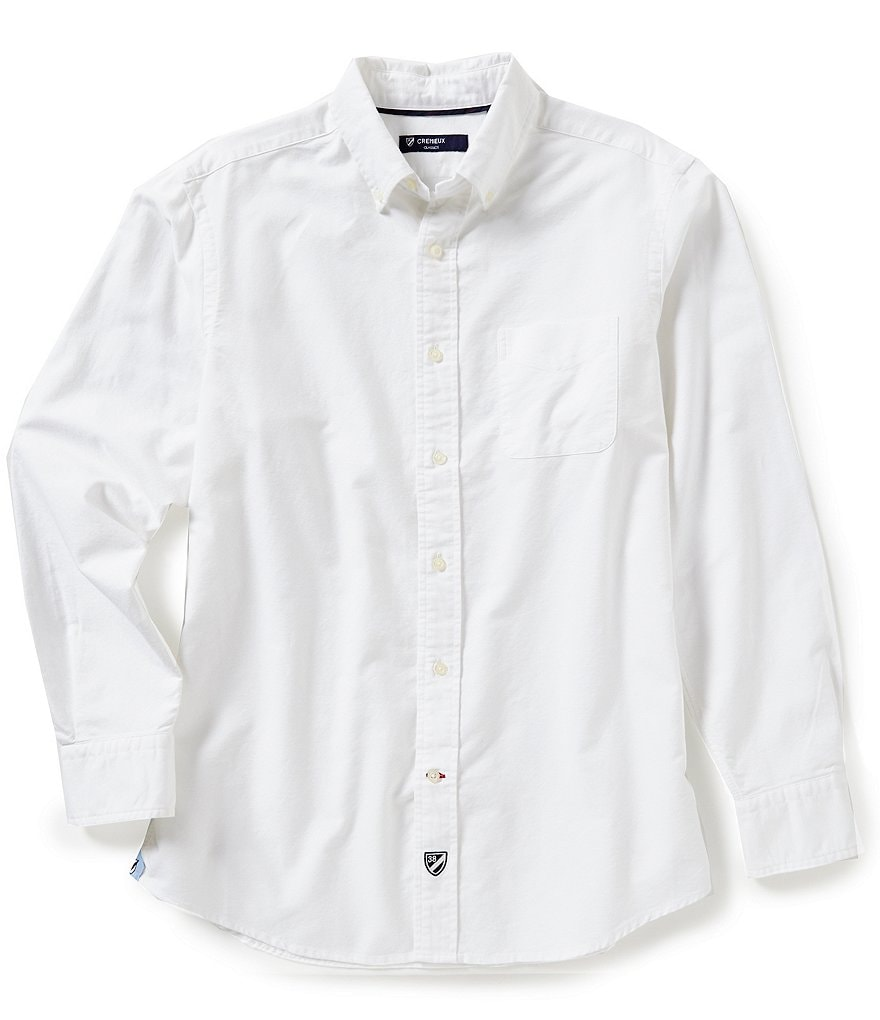 Cremieux Long-Sleeve Solid Oxford Woven Shirt