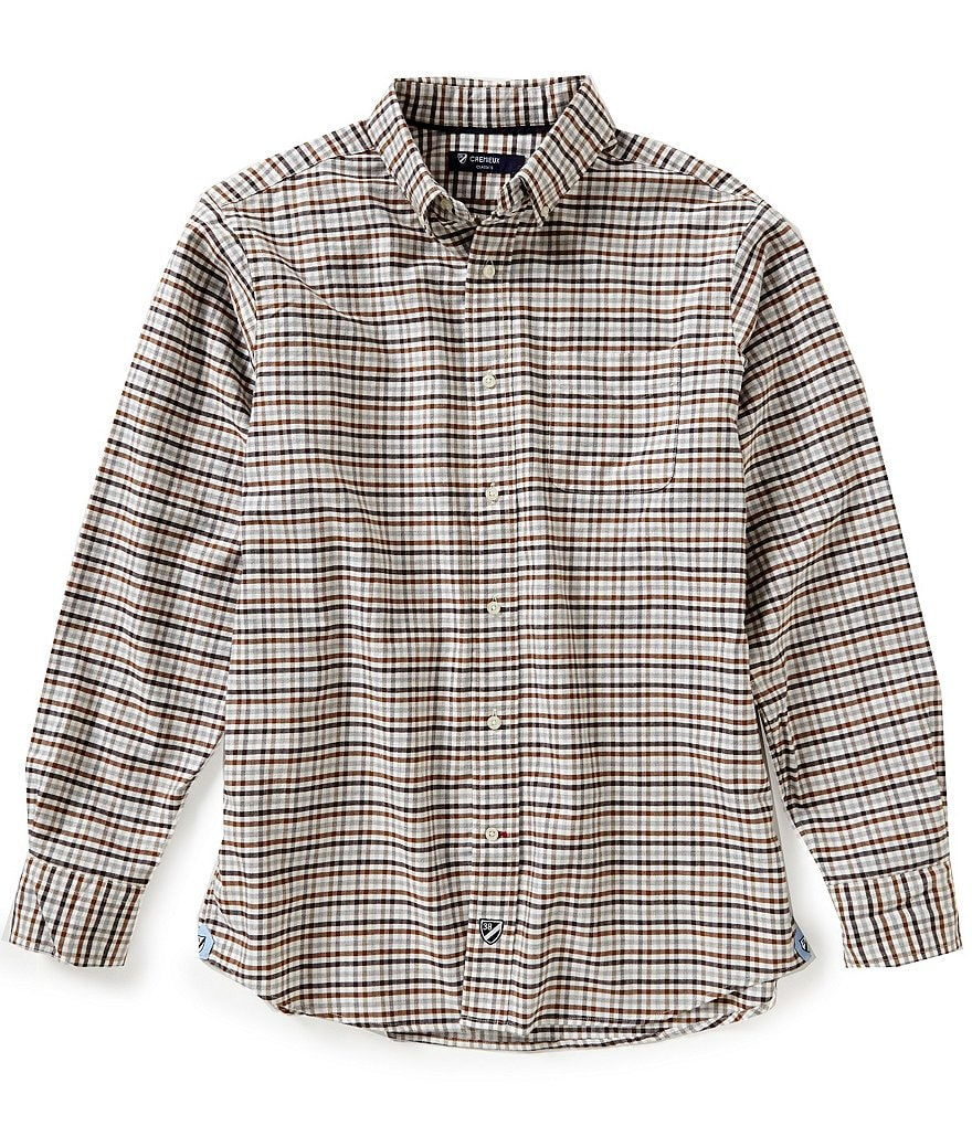 Cremieux Long-Sleeve Check Oxford Woven Shirt