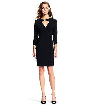 Adrianna Papell Keyhole Banded Sheath Dress