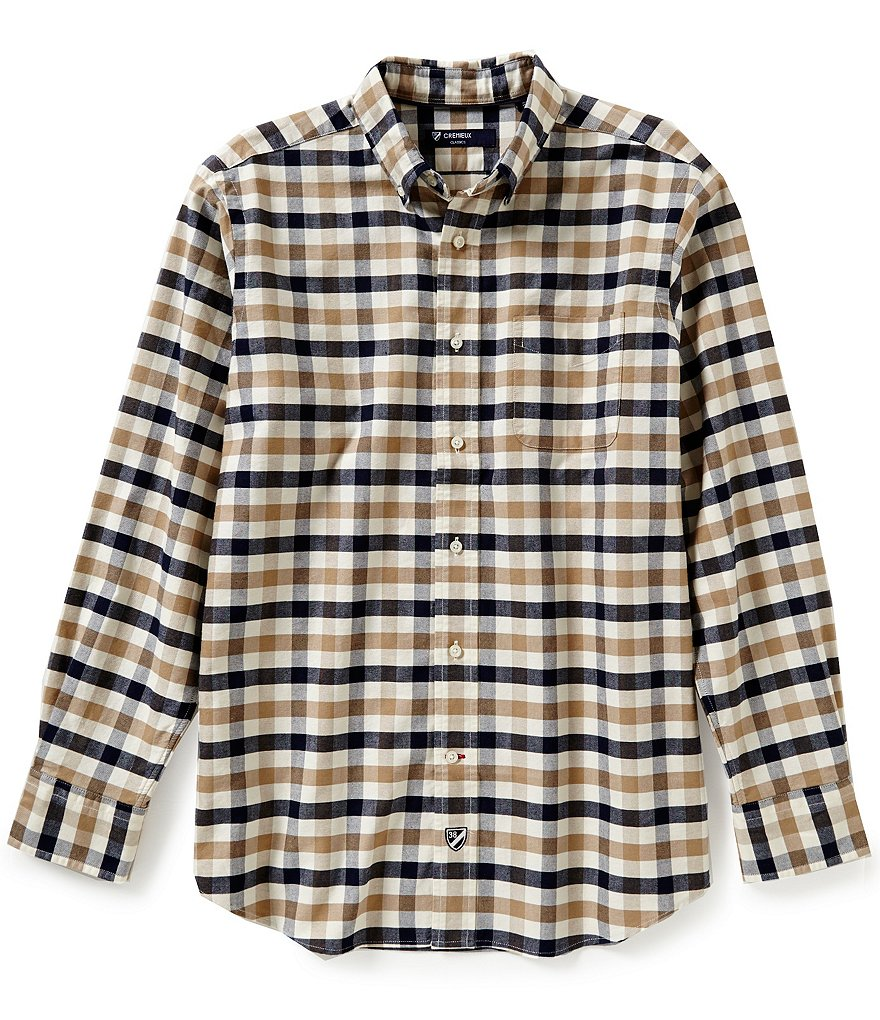 Cremieux Long-Sleeve Exploded Check Oxford Woven Shirt