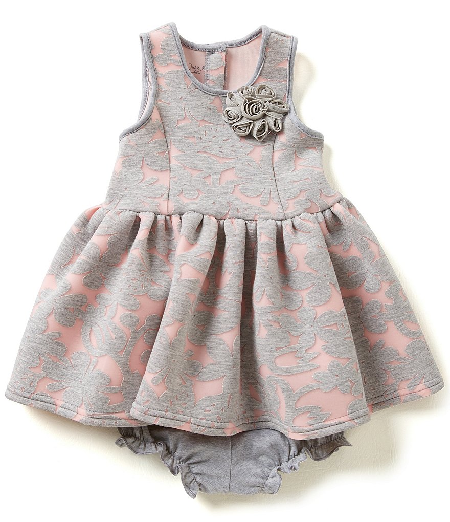 Pippa & Julie Baby Girls 12-24 Months Lace Burnout Dress