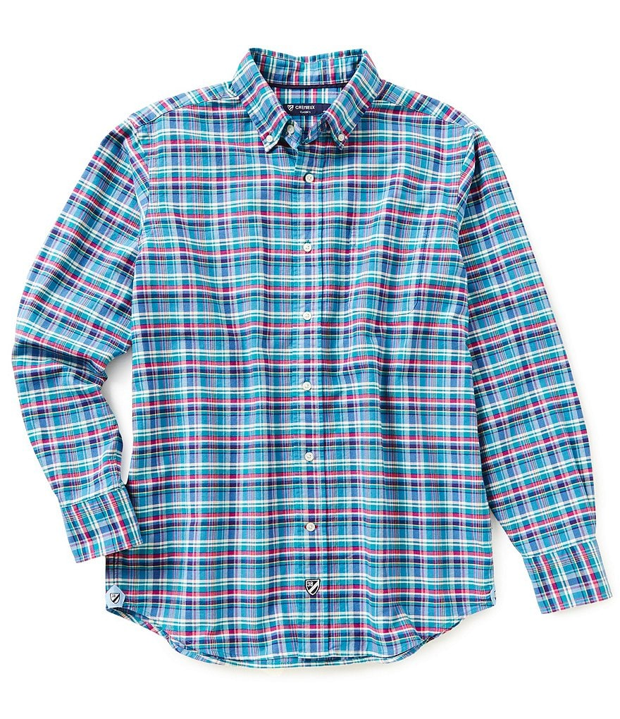 Cremieux Long-Sleeve Plaid Oxford Woven Shirt