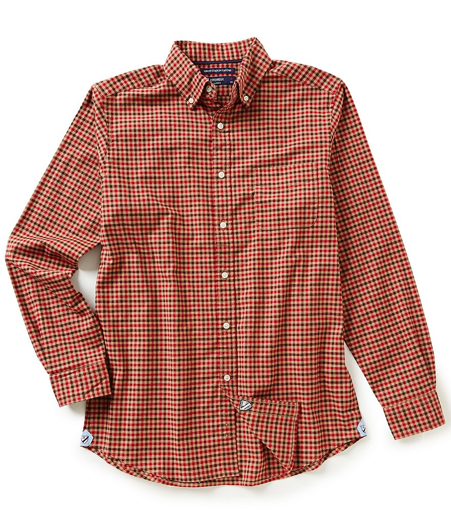 Cremieux Long-Sleeve Slim-Fit Check Oxford Woven Shirt