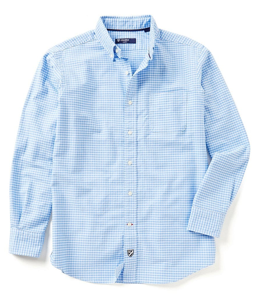 Cremieux Long-Sleeve Graph Pattern Oxford Woven Shirt