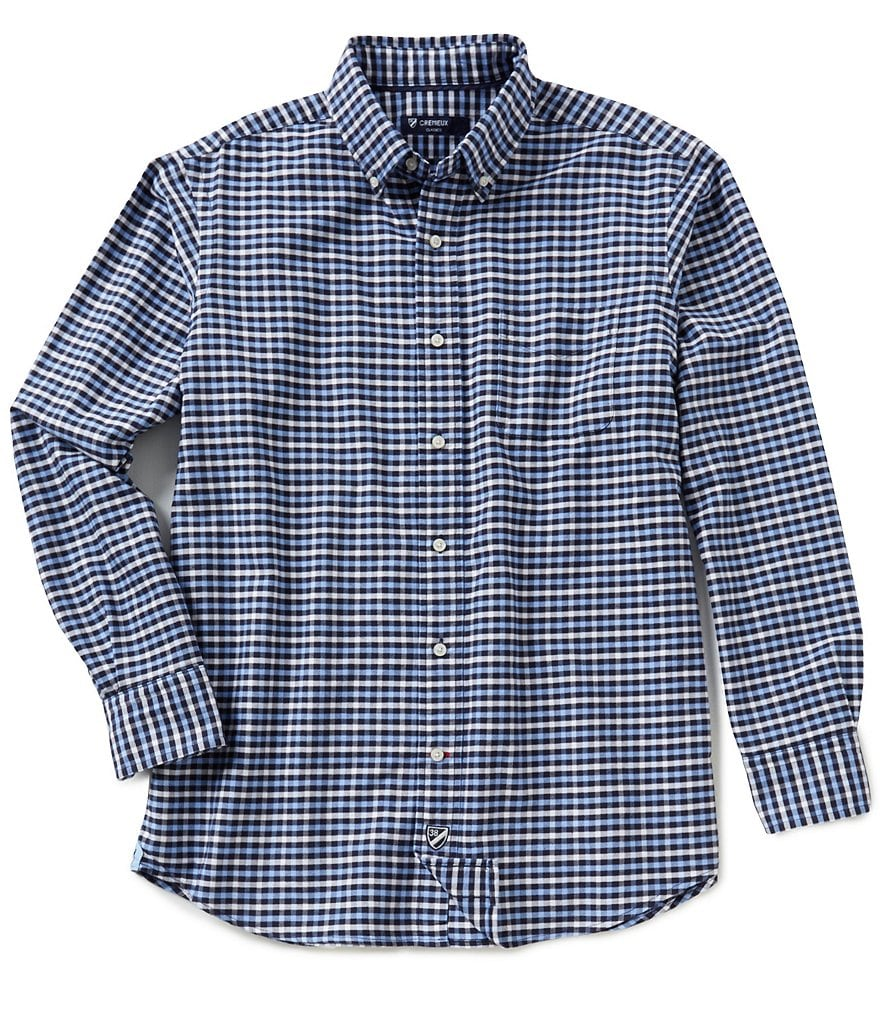 Cremieux Long-Sleeve Multi-Check Oxford Woven Shirt