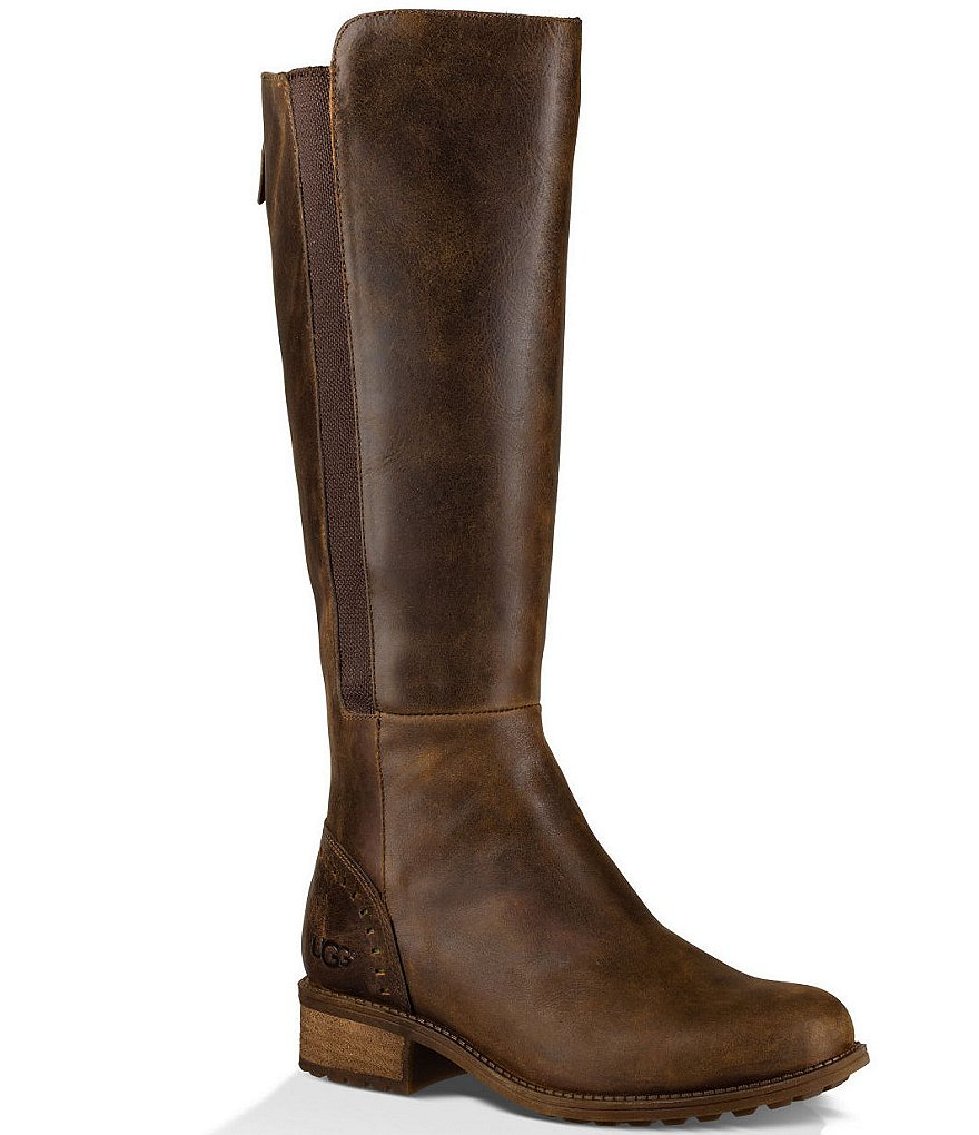 UGG® Vinson Elastic Gore Detail Tall Water Resistant Riding Boots