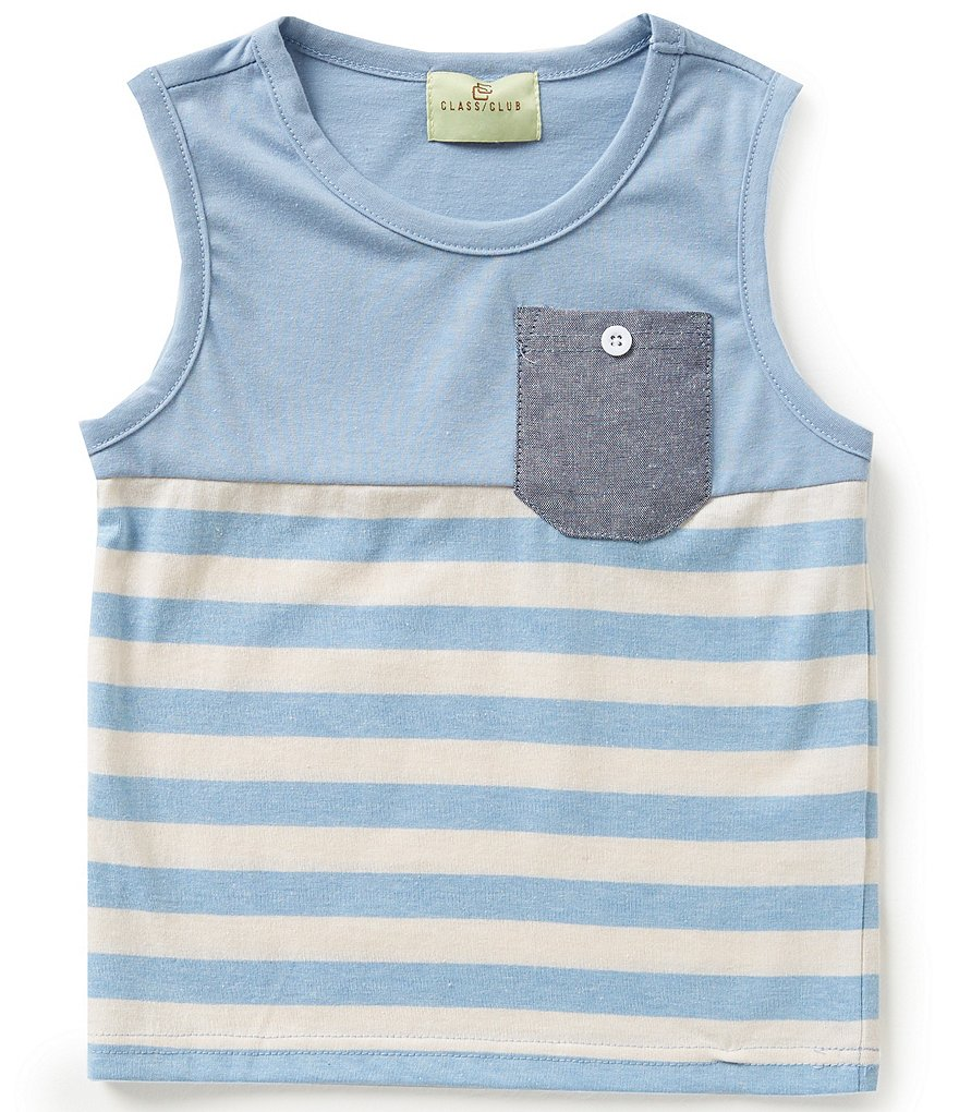 Class Club Little Boys 2T-7 Striped Short-Sleeve Tee