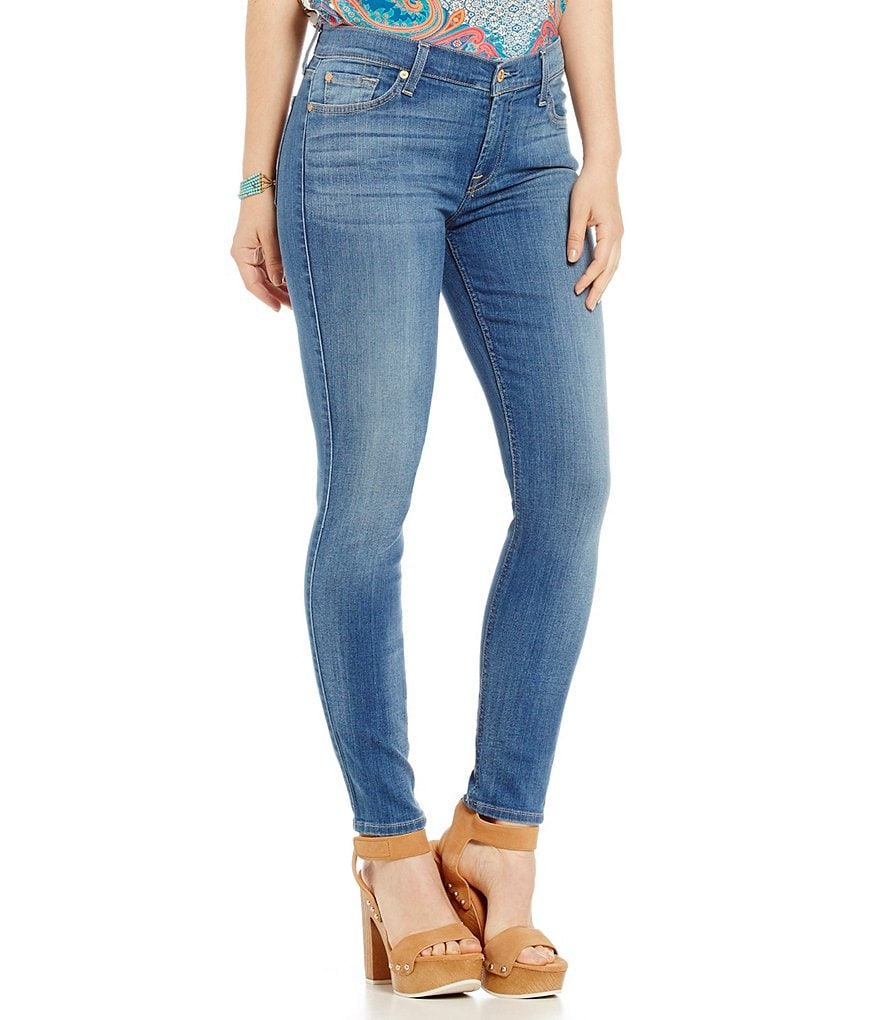 7 For All Mankind Ankle Skinny with Squiggle Jeans