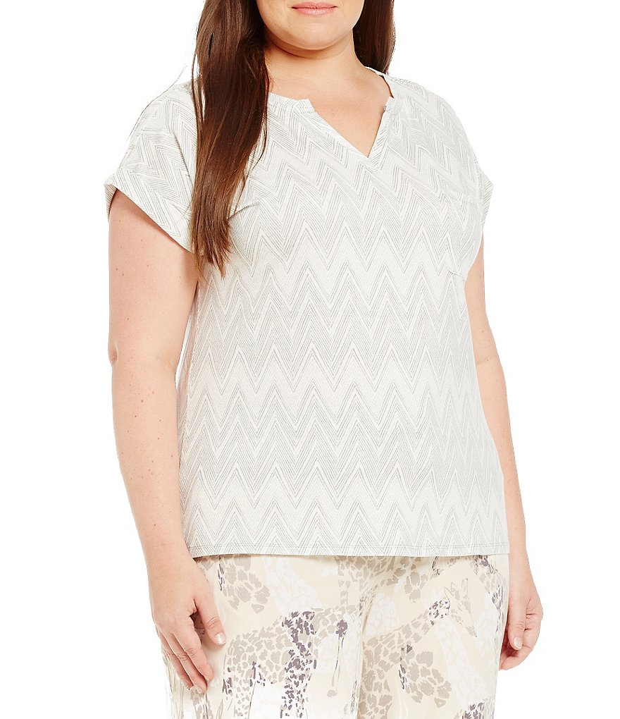 Sleep Sense Plus Chevron Jersey Sleep Top