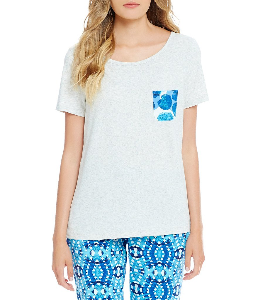 Sleep Sense Dotted-Pocket Sleep Top