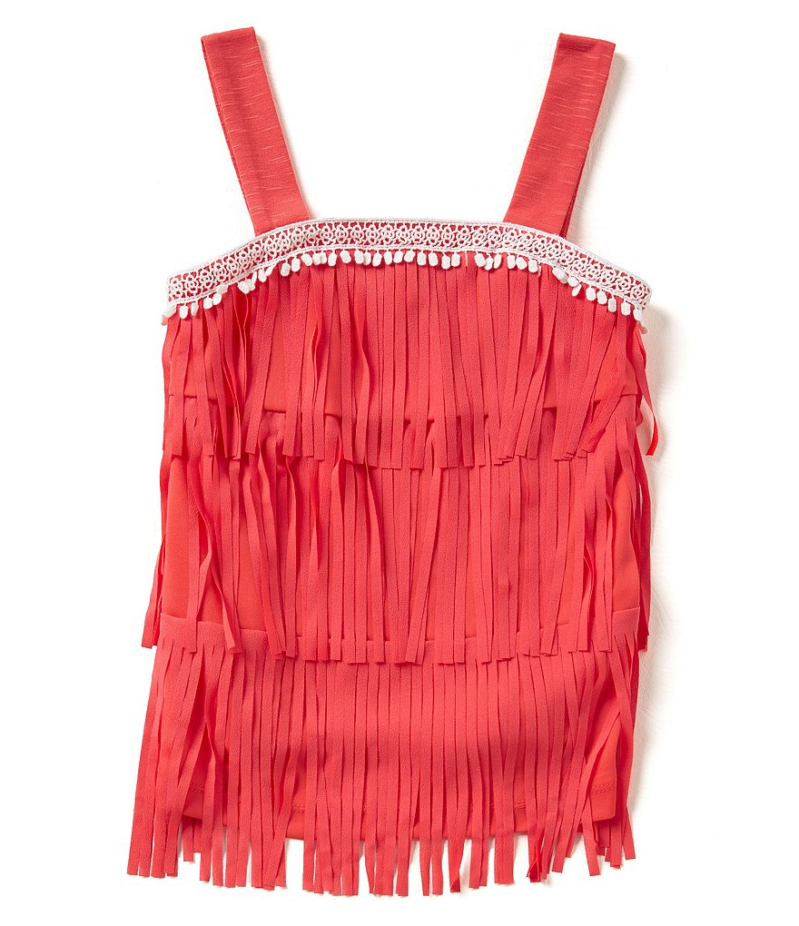 Takara Big Girls 7-16 Tiered Fringed Tank Top