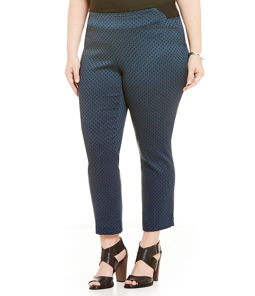 Investments Plus the PARK AVE fit Pull-On Ankle Pant