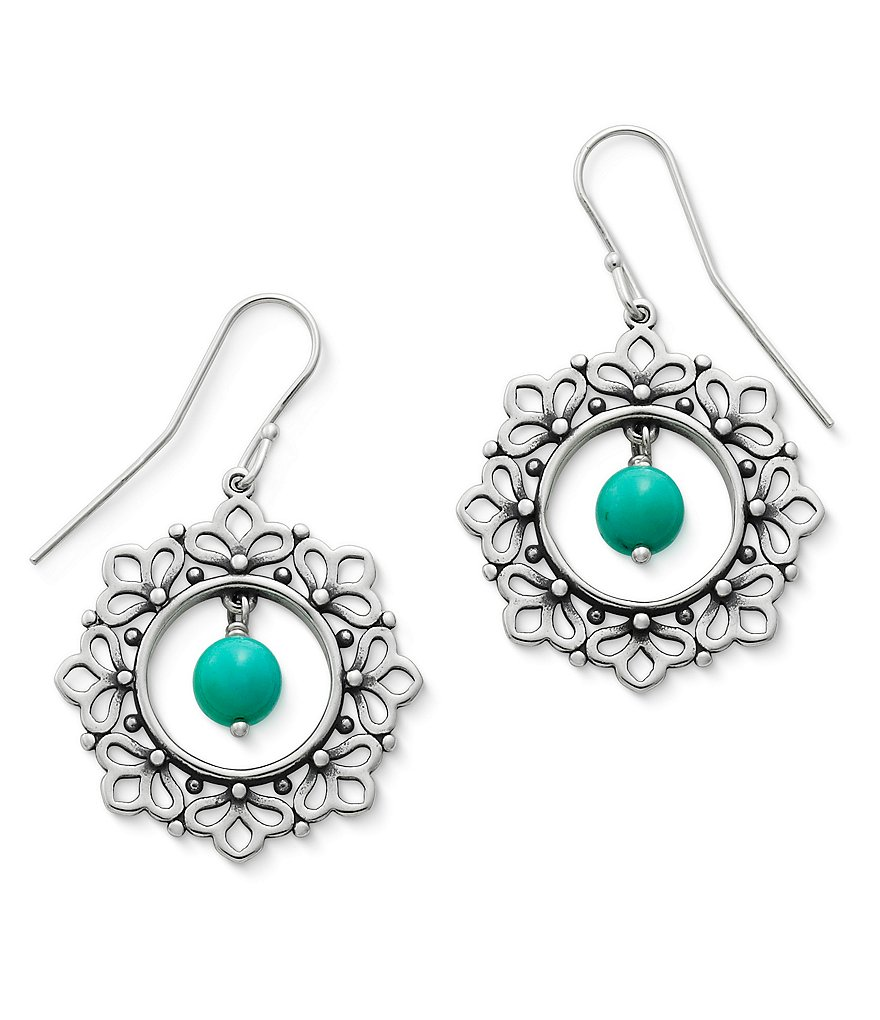 James Avery Garland Earrings with Turquoise