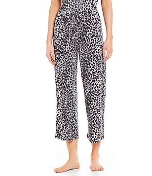 Nottibianche TEMPtations Animal-Print Jersey Cropped Sleep Pants