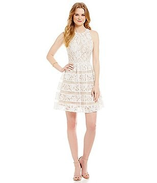 Aidan Aidan Mattox Lace Tier Dress