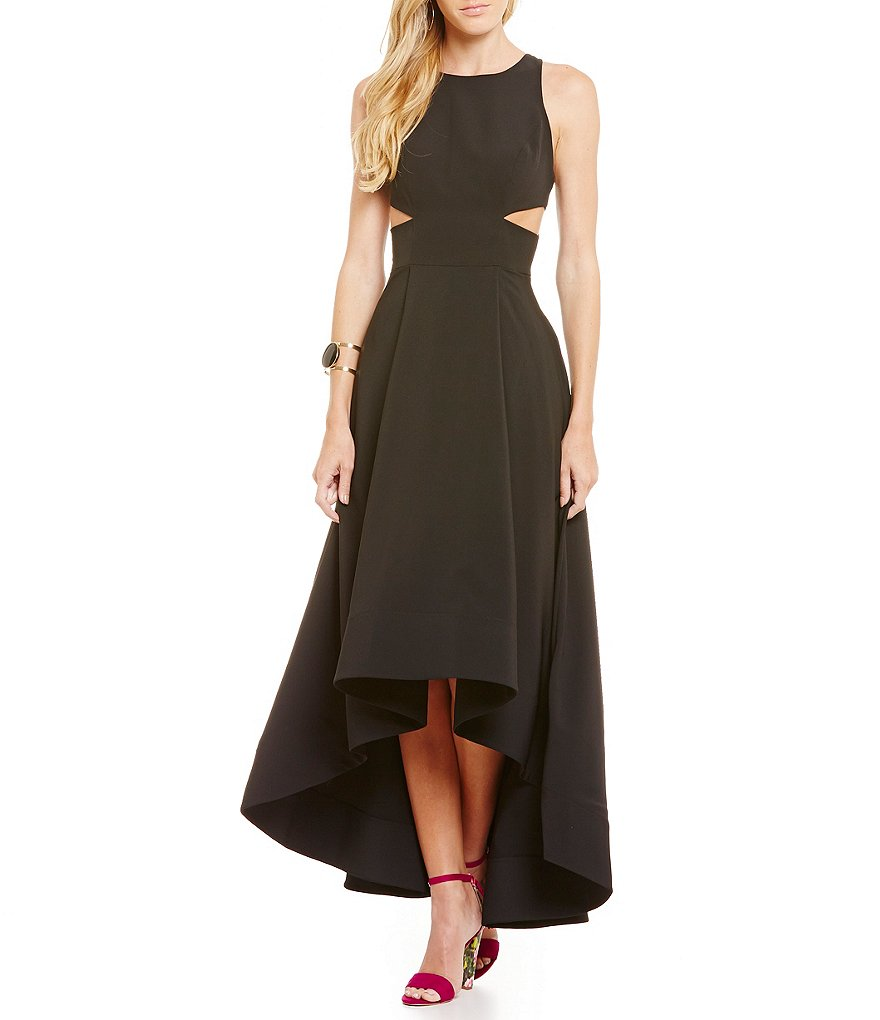 Aidan Aidan Mattox Cut Out Gown