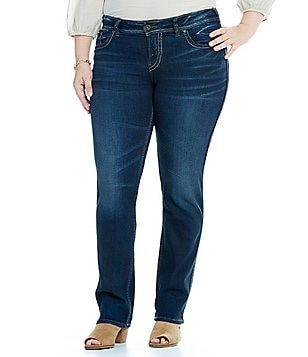 Silver Jeans Co. Plus Suki Mid Straight Leg Jeans