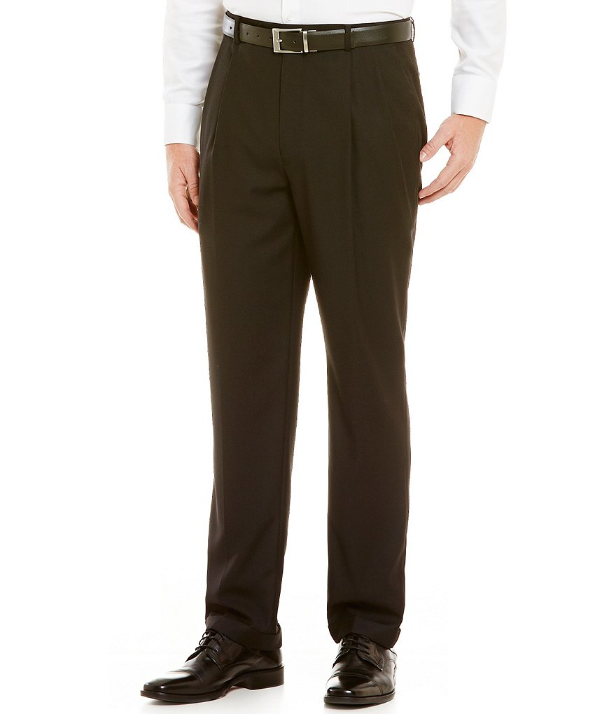 Daniel Cremieux Signature Solid Blend Pleated Pants