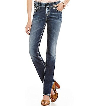 Silver Jeans Co. Suki Straight Stitched Pocket Jeans