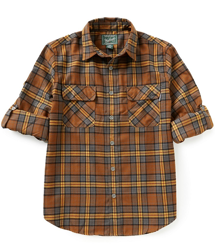 Woolrich Long-Sleeve Hiker´s Trail Plaid Woven Shirt