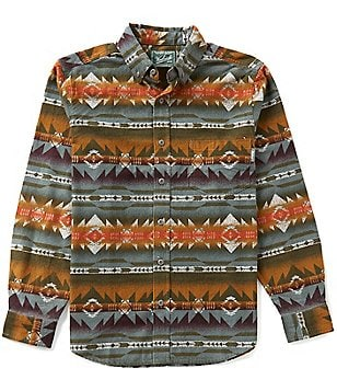 Woolrich Long-Sleeve Tiadaghton Print Woven Shirt