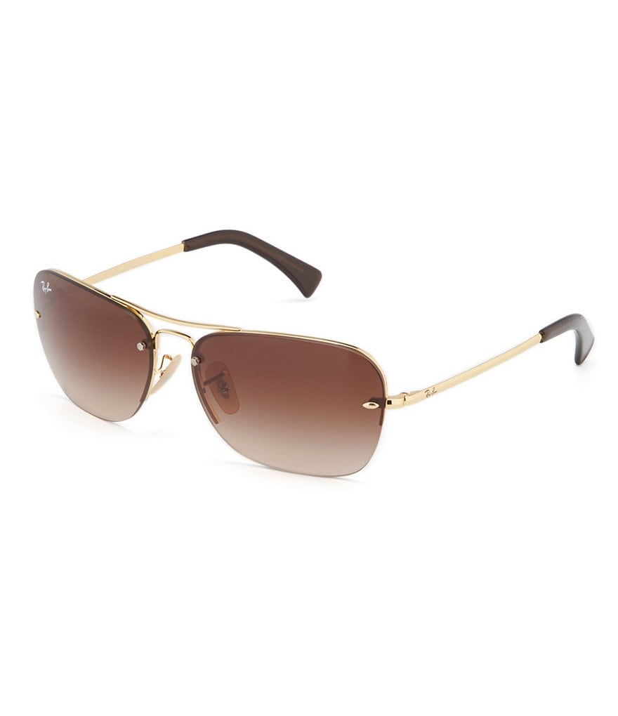 Ray-Ban Semi-Rimless Navigator Sunglasses