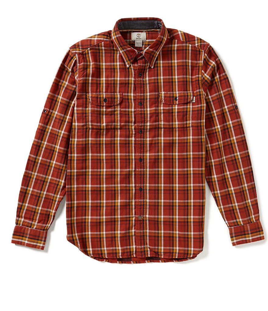 Timberland Plaid Double-Layer Long Sleeve Shirt