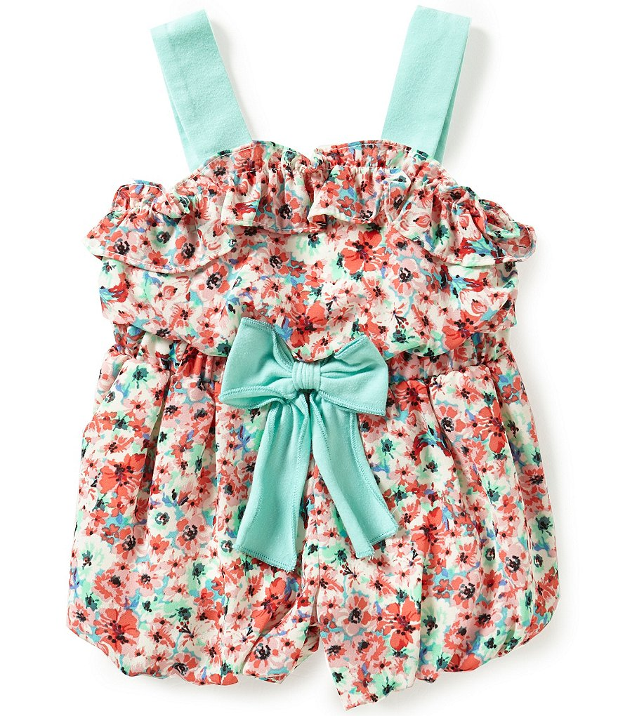Rare Editions Baby Girls 3-24 Months Ditsy Floral-Printed Romper