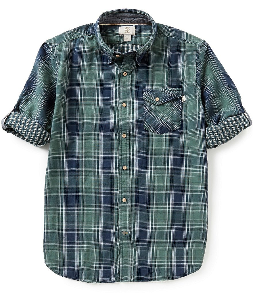 Timberland Ombré Plaid Double-Layer Shirt