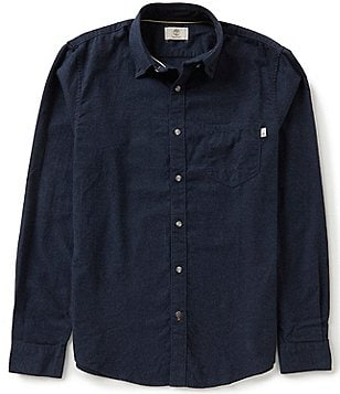 Timberland Long-Sleeve Slim-Fit Flannel Heather Woven Shirt