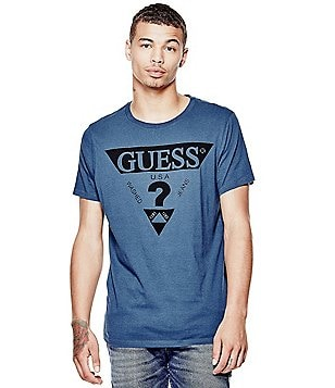 Guess Short-Sleeve Heat Seal Crew Graphic Tee