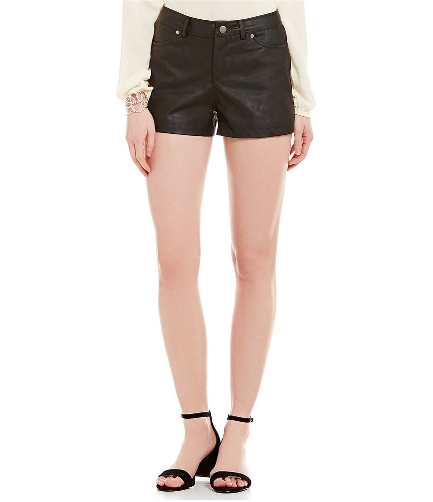 Jack by BB Dakota Aime Faux Leather Shorts