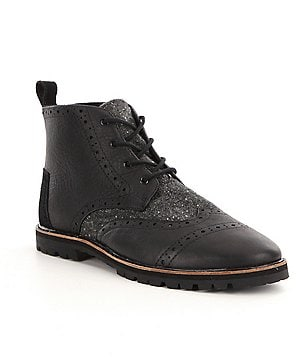 TOMS Men´s Brogue Leather/Wool Fleckle Boots
