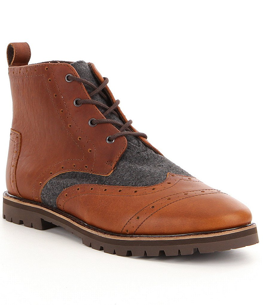 TOMS Men´s Brogue Leather/Wool Boots