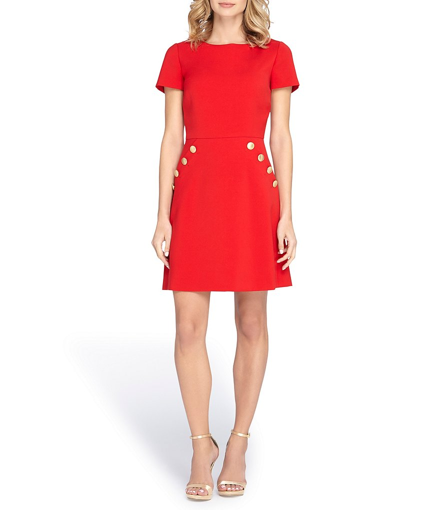 Tahari ASL Crepe Fit and Flare Dress
